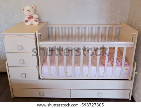 Baby crib. Bed for child - Baby Crib Stock Images, Royalty-Free Images & Vectors Shutterstock