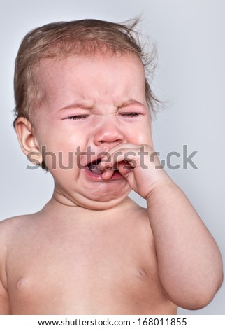 Baby cries - stock photo