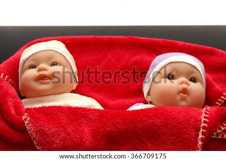baby dolls - stock photo