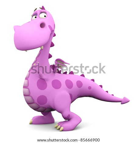 baby dragon pink in nice one - stock photo
