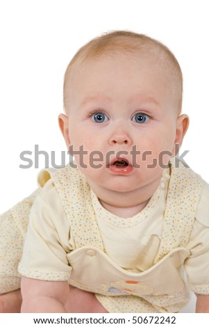 Baby face isolated on  white background
