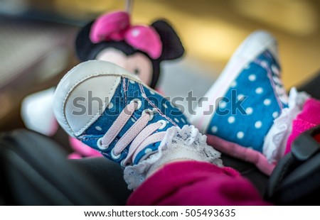 Baby fashion white-blue shoes