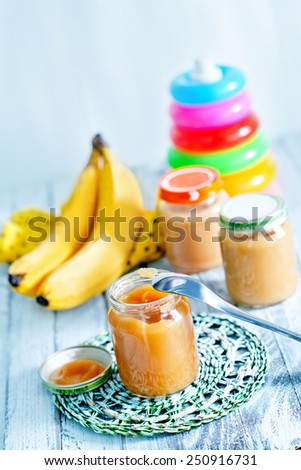 baby food - stock photo