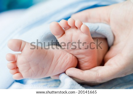 baby foot - stock photo
