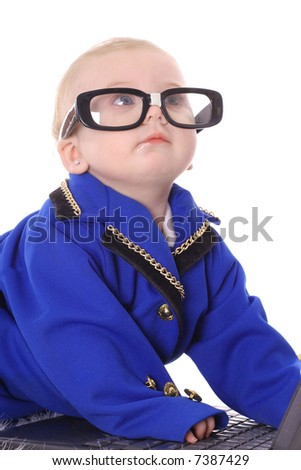 baby genius - stock photo
