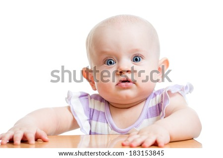 baby girl isolated on white background