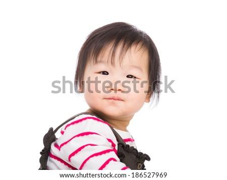 Baby girl looking - stock photo