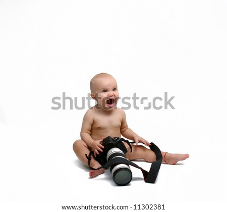 baby girl - photographer - stock photo