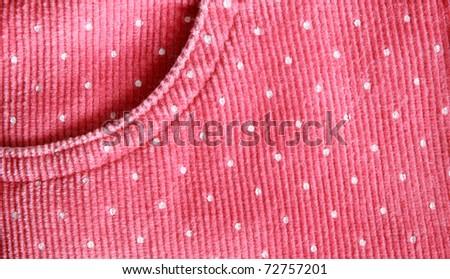 Baby girl's pink skirt texture - stock photo