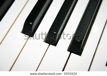 Baby Grand Piano Keyboard - stock photo