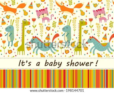 Baby greeting card  - stock photo