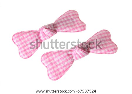 Baby Hair Clips on White Background - stock photo