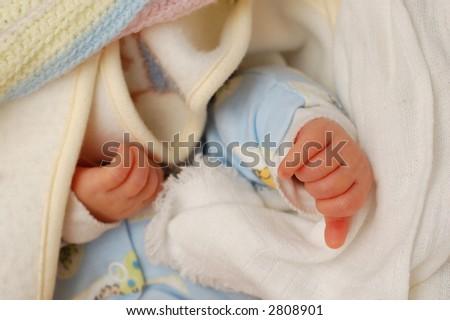 baby hands - stock photo