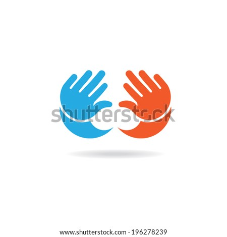 Baby hands girl and boy image. Concept of infant, children, little kid.