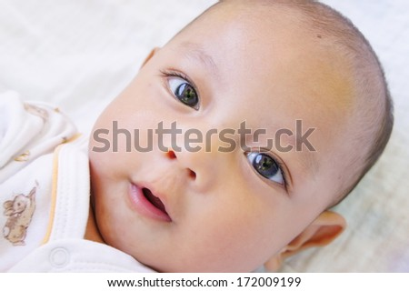 Baby happy - stock photo