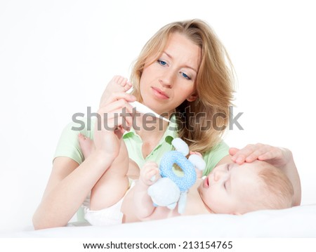 baby illness - stock photo