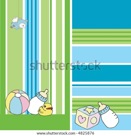 Baby illustration - stock photo