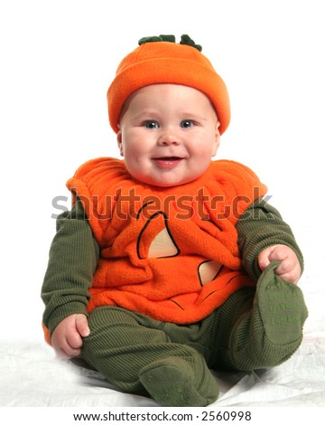 Baby in Pumpkin Costume
