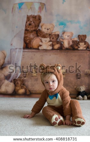 baby in teddy bear costume  sc 1 st  Shutterstock & Baby Teddy Bear Costume Stock Photo (Edit Now) 408818731 - Shutterstock