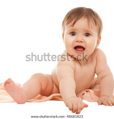 Baby isolated on white