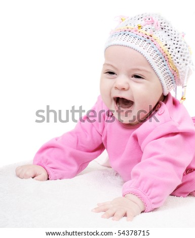baby isolated on white - stock photo