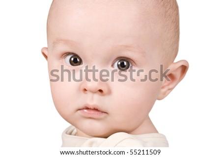 Baby isolated on  white background - stock photo
