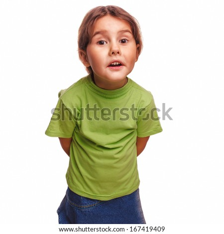 baby little girl swears emotions proves isolated on white background