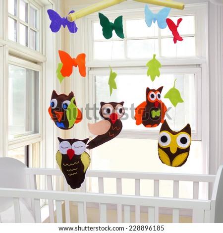 Baby mobile - kids toys - stock photo
