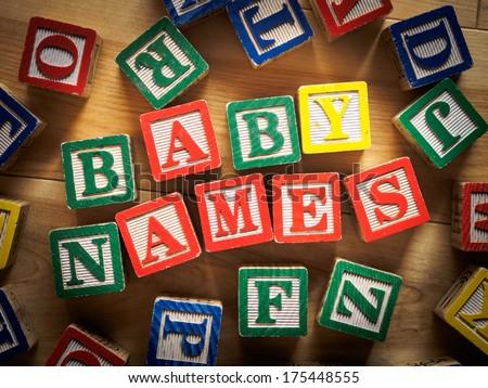 Baby names concept - stock photo