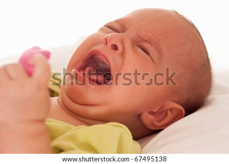baby on a white background - stock photo