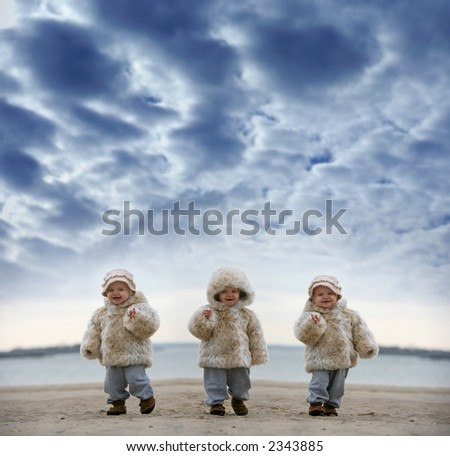 baby on the beach - winter