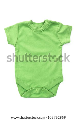 Baby onesie isolated on white background. clothes close up - stock photo