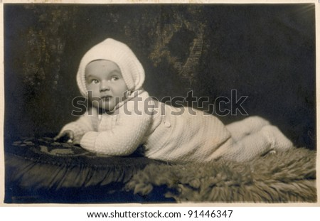 baby - photo scan - about 1930