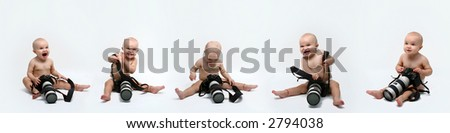baby photographer - stock photo