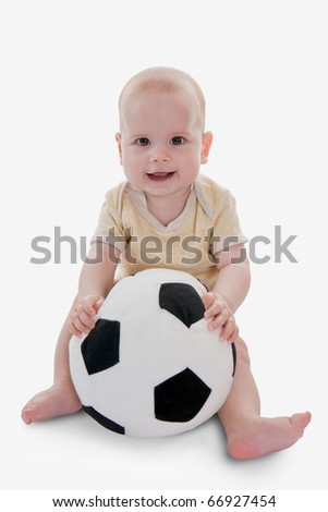 Baby playing with a ball