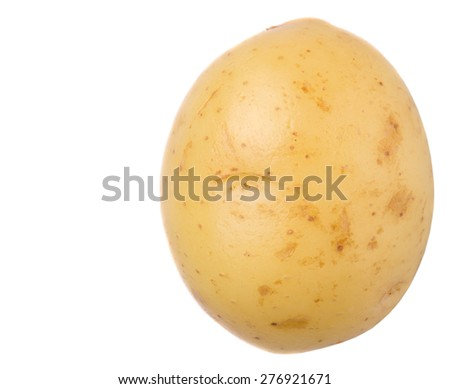 Baby potatoes over white background - stock photo