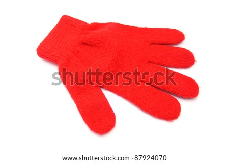 Baby red glove - stock photo