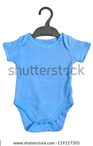Baby Ringer T shirt with hanger - stock photo