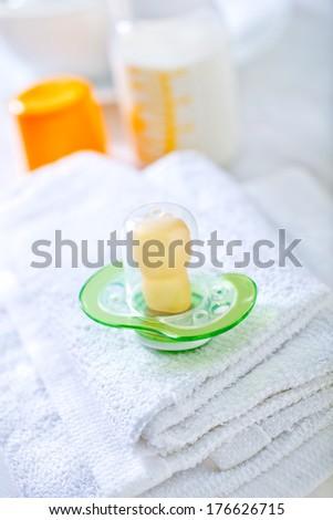 baby's dummy - stock photo