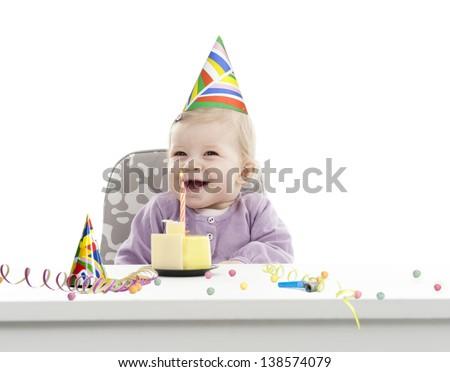 baby's first birthday - stock photo