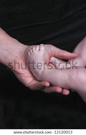 Baby's Foot in Mother's Hand