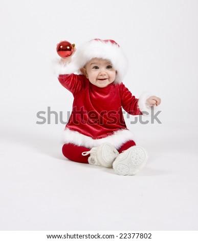 baby santa claus - stock photo
