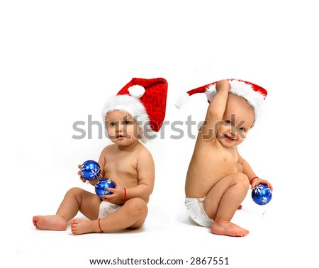 Baby Santa Claus - Christmas - stock photo