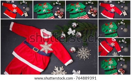 Baby Santa costume ,Christmas costumes for children