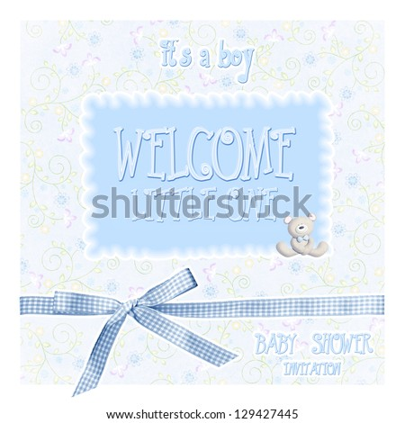baby shower - boy - stock photo