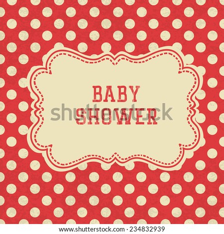 Baby Shower card. Raster version
