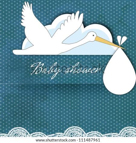 Baby shower invitation - stock photo