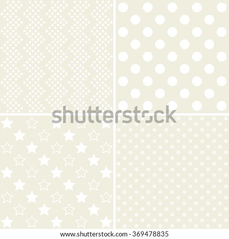 Baby shower: set of vector grey backgrounds. - stock photo