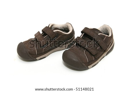 Baby  sport shoes on white background
