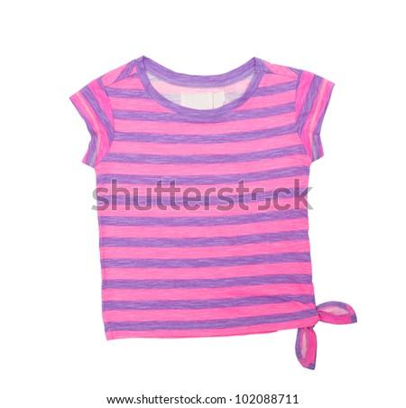Baby t-shirt isolated on white background - stock photo